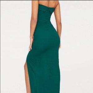 PrettyLittleThing Dresses - 💚EMERALD GREEN BANDEAU DRESS